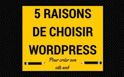 WordPress, 5 raisons de le choisir pour créer son site Internet